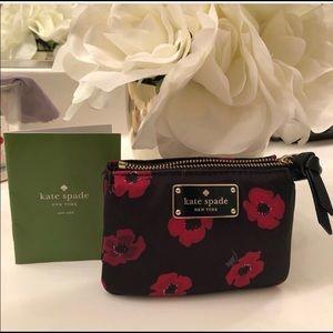 KATE SPADE ♠️ mini Wilson Poppy card case